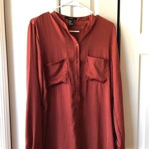 Long burnt orange tunic (XL)